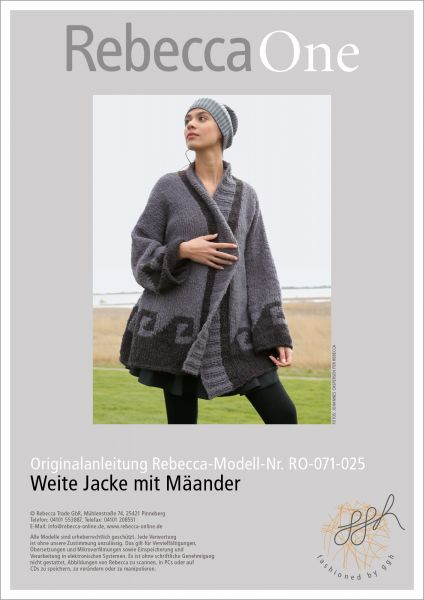 Strickanleitung - Weiter Jacke mit Mäander