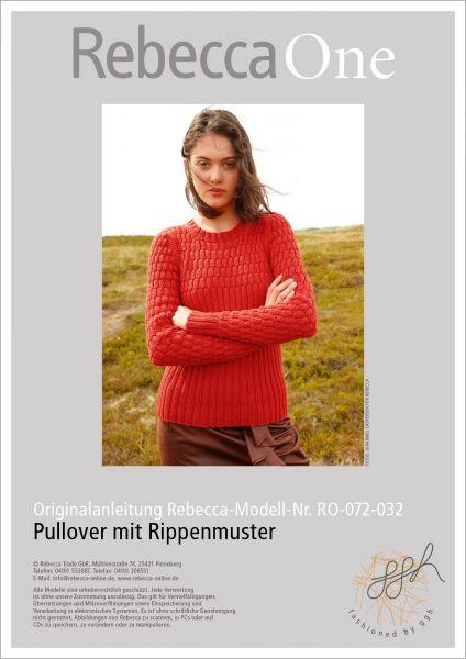 Strickanleitung - Pullover mit Rippenmuster