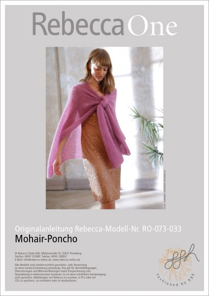 Strickanleitung - Mohair-Poncho