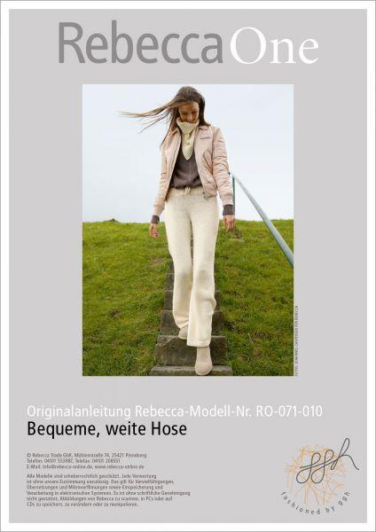 Strickanleitung - Bequeme, weite Hose