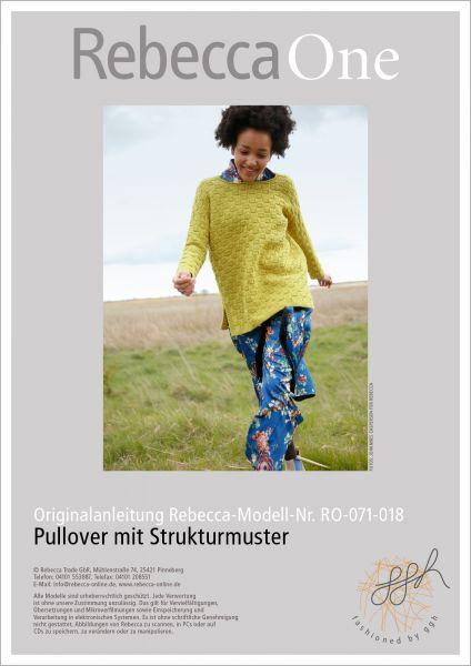Strickanleitung - Pullover mit Strukturmuster