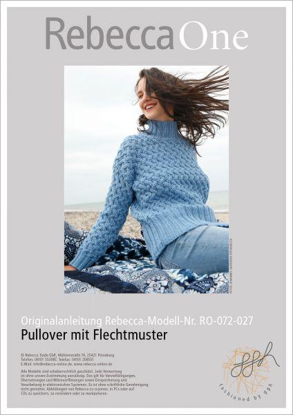 Strickanleitung - Pullover mit Flechtmuster