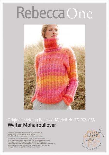 Strickanleitung - Weiter Mohairpullover