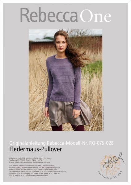 Strickanleitung - Fledermaus Pullover